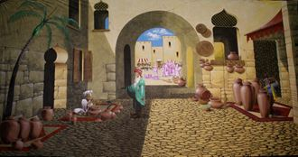 Picture of Backdrop Arabian Street Market 12m x 6m