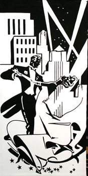 Picture of Poster Art Deco 1 3m x 1.5m
