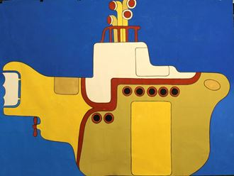 Picture of  Yellow Submarine  - Backdrop - 3mW x 2mH