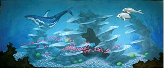 Picture of Underwater Fantasy - Backdrop - Whale & Dugong  15m W x 6m H