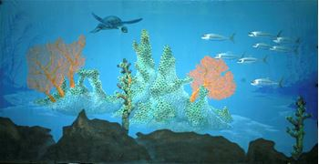 Picture of Underwater Fantasy - Backdrop - Turtle 12m W x 6m H