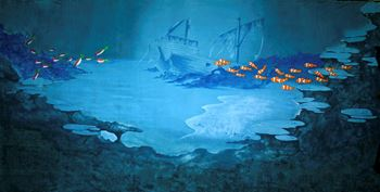 Picture of Backdrop Sunken Galleon  12m x 6m