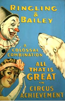 Picture of Poster Ringling & Bailey Circus  3m x 2m