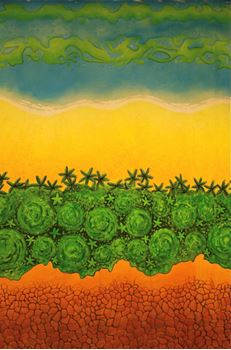 Picture of Tropical style - backdrop -  3m W x 6m H