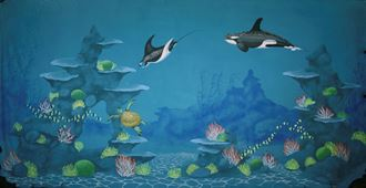 Picture of Backdrop Underwater Fantasy: Killer Whale  12m x 6m