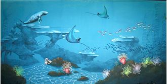 Picture of Backdrop Underwater Fantasy: Dugong, Stingray  12m x 6m