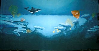 Picture of Backdrop Underwater Fantasy: Dolphin Stingray 12m x 6m