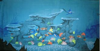 Picture of Backdrop Underwater Fantasy: Shark  12m x 6m