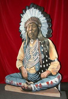 Picture of Cutout American Indian Chief Sitting