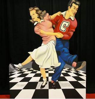 Picture of Cutout 50's Jive Couple #2