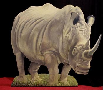 Picture of Cutout Rhinoceros