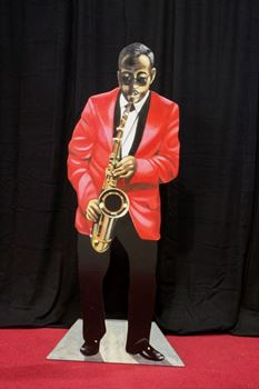 Picture of Cutout Jazz Band Sax Player