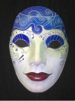 Picture of Mask - Blue / Red Lip