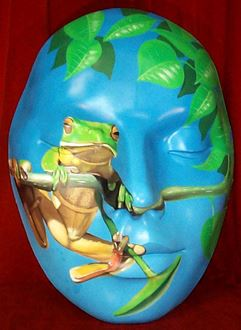 Picture of Mask Green Frog