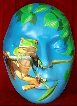 Picture of Mask - Green Frog