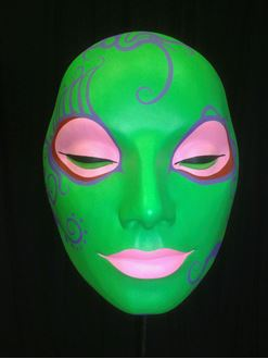 Picture of Mask Green Pink Lips