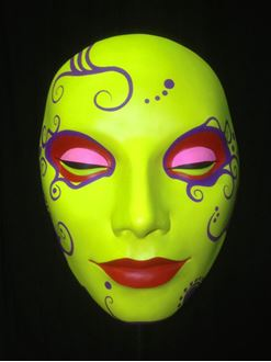 Picture of Mask Lime Green Red Lips