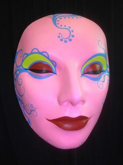 Picture of Mask Pink Red Lips