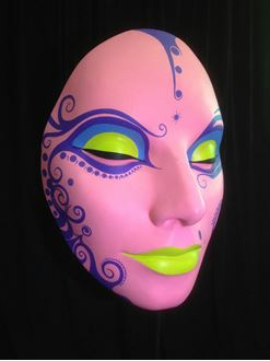 Picture of Mask Pink Yellow Lips