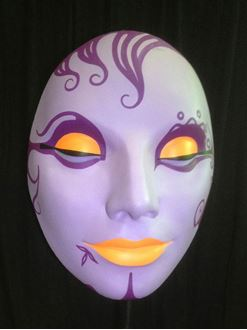 Picture of Mask - Purple/ Orange Lips