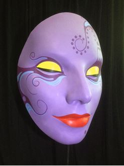 Picture of Mask Purple Red Lips