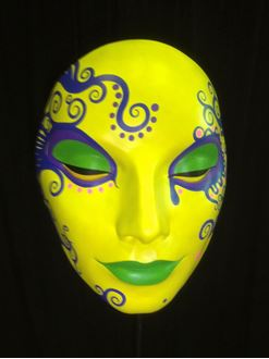 Picture of Mask - Yellow/ Green Lips