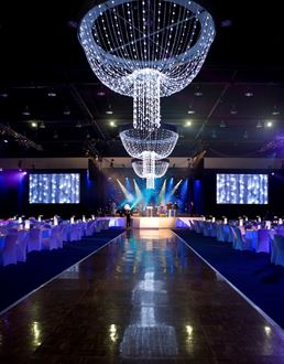 Picture of Chandelier LED Faux crystal 3m W x 2.5m H