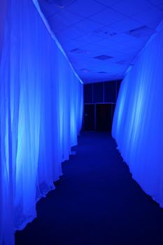 Picture of White Chiffon Curtain -  Entrance