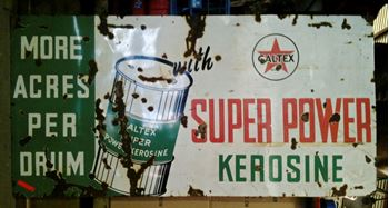Picture of Sign Caltex Kerosine  Large