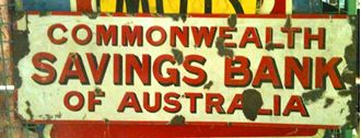 Picture of Sign Commonwealth Bank
