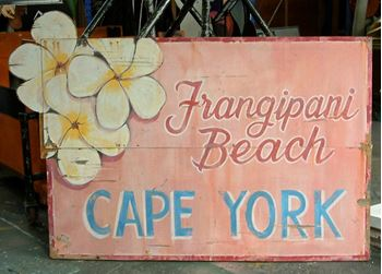 Picture of Sign Frangipani Beach