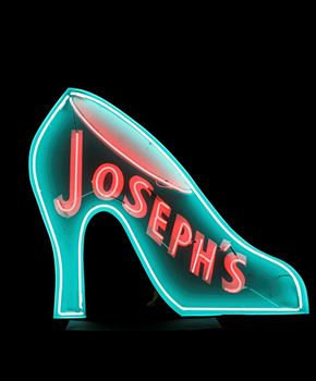 Picture of Sign Josephs Shoes Neon