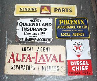 Picture of Sign Motor vintage assorted
