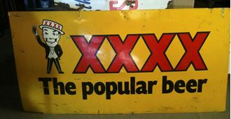 Picture of Sign XXXX Beer Large