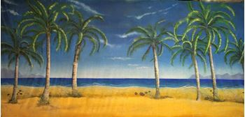 Picture of Tropical Beach #1 - Backdrop - 9m W x 2.4m H
