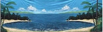 Picture of Tropical Beach #3 -Backdrop -  9m W x 6m H