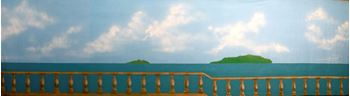 Picture of Backdrop Mediterranean Seaside Balcony 11m x 3m