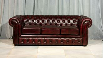 Picture of Chesterfield Brown Lounge 3 Seat