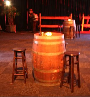 Picture of Barrel and Stools