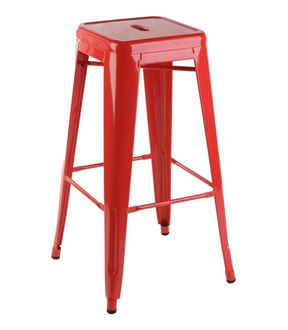 Picture of Tolix Style Stool Red