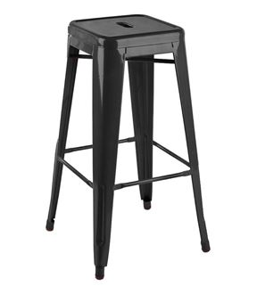 Picture of Tolix Style Stool Black