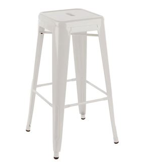 Picture of Tolix Style Stool White