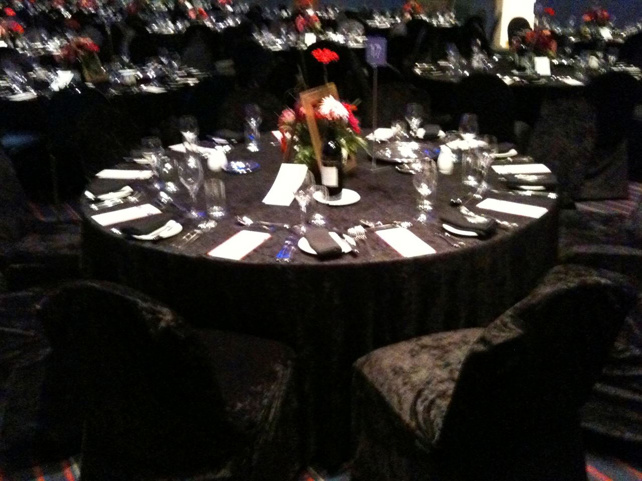 Attractive ... Picture Of Tablecloth Black Velvet 3.3m Round