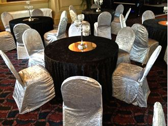Picture of Chair Cover Grey Velvet