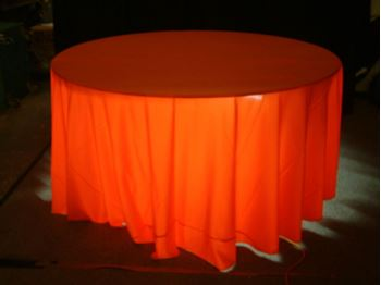 Picture of Tablecloth Orange 3.3m Round