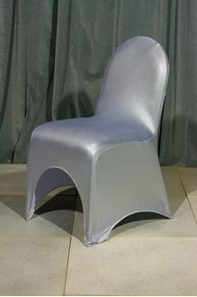 Picture of Chair Cover Silver Metallic Lycra