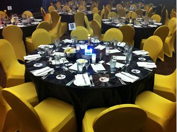 Picture of Tablecloth Black Metallic Round 3.3m