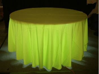 Picture of Tablecloth Lime Green 3.3m round
