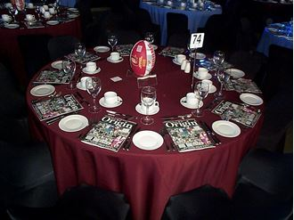Picture of Tablecloth Maroon 3.3m round