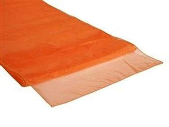 Picture of Table Runner Orange Organza